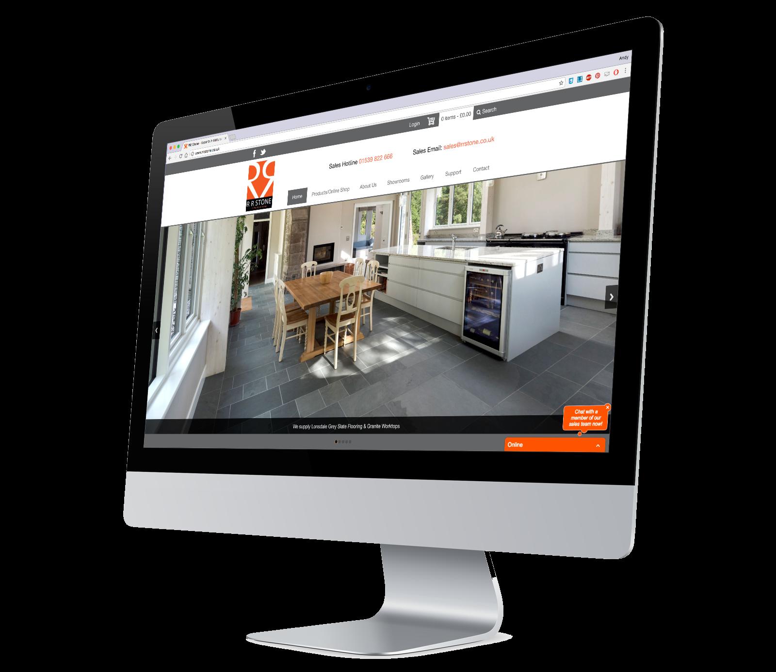 RR Stone E-Commerce Website